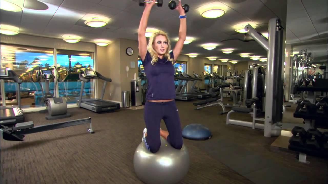 natalie gulbis hits the gym