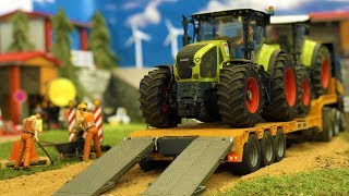 BRUDER Tractor CRASH | Truck and excavator in action | Video for kids