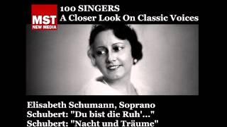 100 Singers - ELISABETH SCHUMANN
