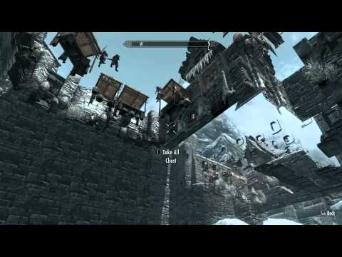 Skyrim GLITCH Secret Chests in Windhelm - Fall through the floor!