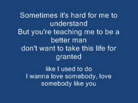 I Wanna Love Somebody Like You - Keith Urban Lyrics