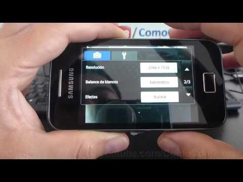 Como configurar la cámara del samsung galaxy Ace S5830 español Full HD