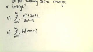 Test for Divergence for Series, Two Examples