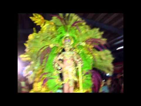 Mileydis Vargas, reina de Calle Arriba de Las Tablas 2010 en Carnaval de Medio Año 2010