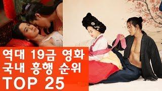 역대 19금 영화 국내 흥행 순위 TOP 25