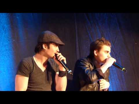 Ian Somerhalder and Paul Wesley at BloodyNightCon 12-05-13, very funny moments see the description