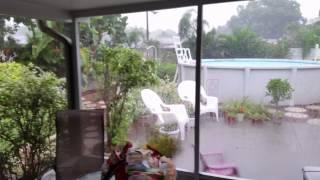 Vacation rain storm in Sarasota