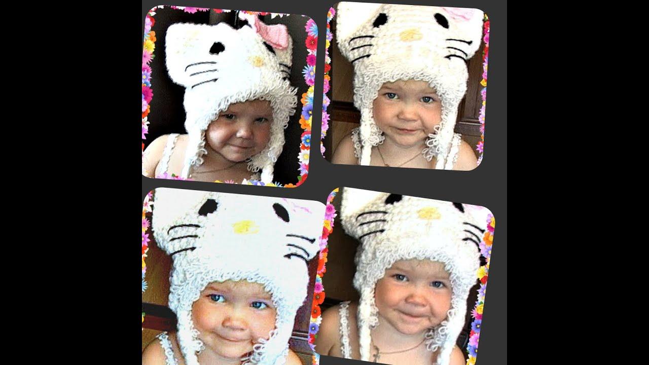 Детские шапки на 2 года вязание 80