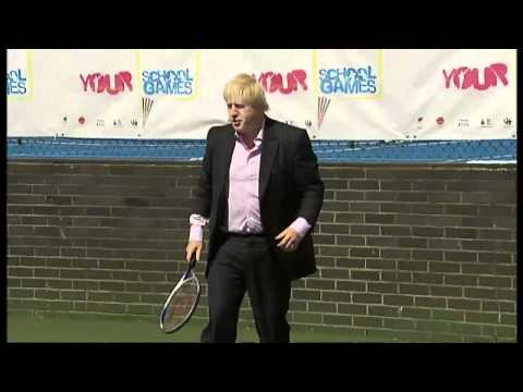 Boris Johnson tennis ace