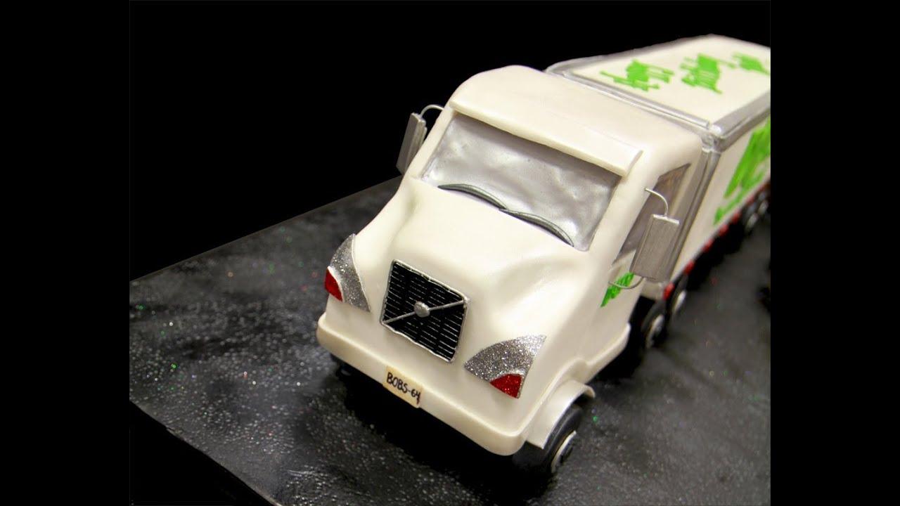 Tractor Trailer Truck Birthday Cake Youtube