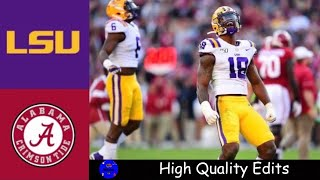 #2 LSU vs #3 Alabama Highlights | NCAAF Week 11 | College Football Highlights