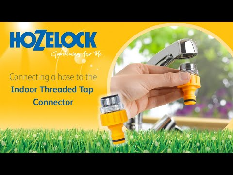 How to connect your hosepipe to a kitchen mixer tap using a hozelock 2159 connector youtube - Connect hose to kitchen tap ...