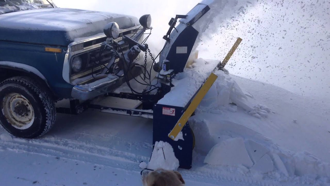 Snow Thrower Truck : Truck mounted snow blower in action youtube