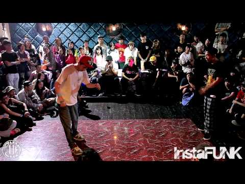 InstaFUNK x LockCity HongKong 2014 - Timothy (4 in Funk) vs Kobe LEUNG (4 in Funk) - Popping Best 8