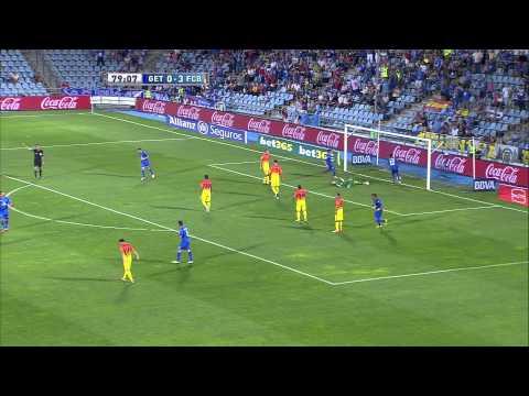 Gol de Javier Mascherano (1-3) en el Getafe CF - FC Barcelona Jornada 4