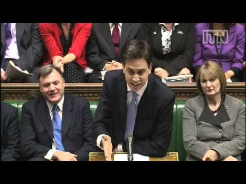 David Cameron and Ed Miliband clash at PMQs