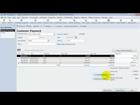 QuickBooks Training -  Customers: Receive Payments -- Record Deposits