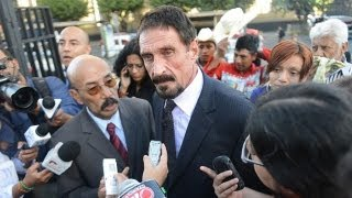 McAfee Back in U.S., Admits Fake Heart Attack