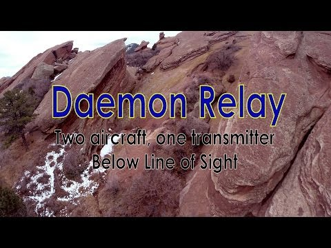 Daemon Relay - World first 2 quads. one transmitter. below-line-of-sight FPV