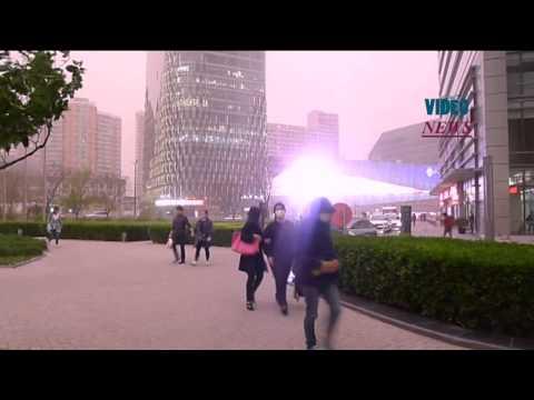 Blue alert for sandstorm in Beijing