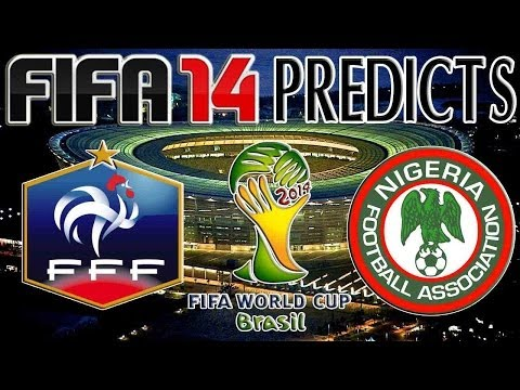 2014 FIFA World Cup Brazil | France vs Nigeria | FIFA 14 PREDICTS (PS4)