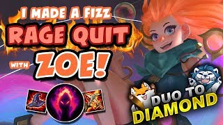 I MADE A FIZZ RAGE QUIT! - DUO TO DIAMOND | League of Legends