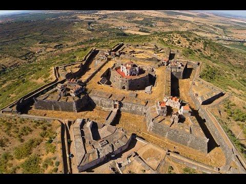 Nossa Senhora da Gra�a Fort and Elvas aerial view - Portugal