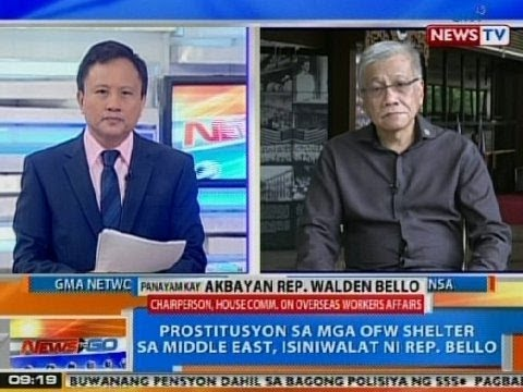 Ntg: Panayam Kay Akbayan Rep. Walden Bello Kaugnay Sa Isyu Ng Sex For Flight video