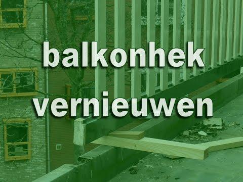 Houten balkonhek