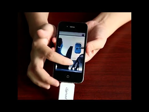 iSpread USB TF card reader USB flash drive for iPhone/iPad/iPod.wmv