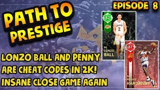 LONZO BALL AND PENNY HARDAWAY ARE CHEAT CODES IN NBA 2K18 MYTEAM SUPERMAX GAMEPLAY
