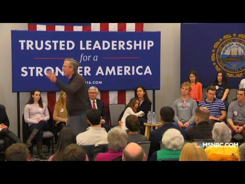 "Jeb Bush: ""Please clap"""