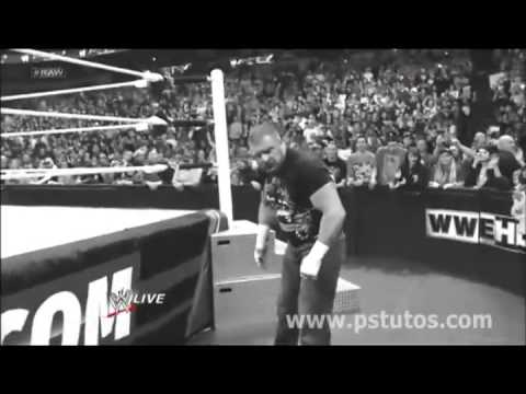 HHH returns and attacks Brock Lesnar Raw 25/2/13