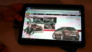 Galaxy Tab 10 1 Android Honeycomb Browser Test ENG