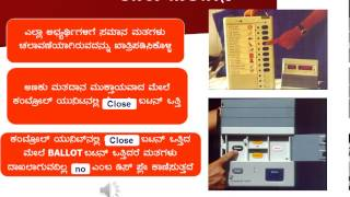 Election - Elections Training Material EVM Kannada - 2013