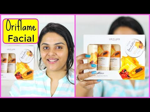 "Oriflame_""Fruit Facial Kit"" Review+Demo 