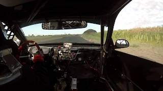 Chumpcar Road Racing, 1993 Honda Civic VTEC, Spokane Washington, in car race footage.