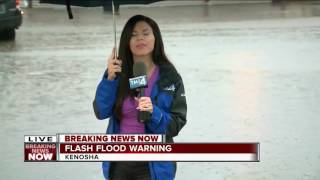 Flash Flooding causing issues in Kenosha