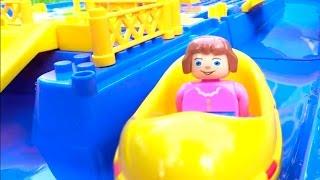 Видео с игрушками. Юху на пляжной  вечеринке. Катаемся на лодках.  Игрушки для детей.