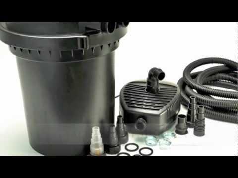 Pond UV Sterilizer Bio Pressurized Filter w/Pump PFS300UV