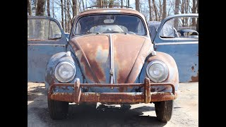 Sitting for almost 40 years : Will it Run ??? 1958 Volkswagen Beetle Ragtop  : 58 Vw Bug