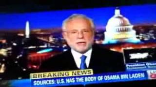 ACTUAL FOOTAGE CNN live Osama bin laden Dead