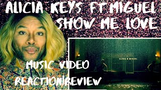 Alicia Keys feat. Miguel - Show Me Love (Visual Sonic Experience) REACTION|REVIEW