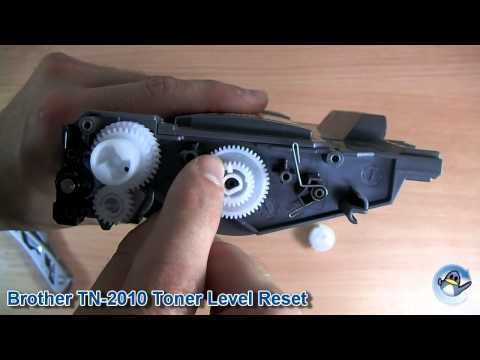 How to Reset Toner Level on Brother TN2010/TN2220/TN-2010/TN-2220 Toner Cartridge