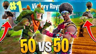 NEW INSANE 50 Vs 50 MODE *CRAZY BATTLES*! - FORTNITE (Victory Royale)