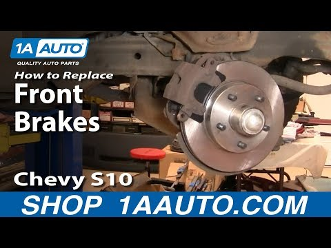 How To Install Replace Front Disc Brakes Chevy S-10 GMC S-15 2WD 94-03 PART 2 1AAuto.com
