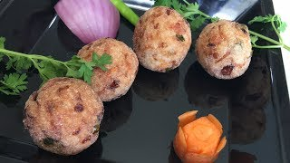 Rice Balls with Leftover rice   Fried snack recipe