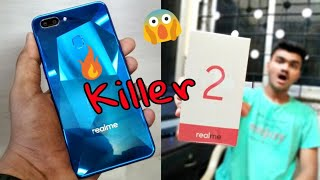 Realme 2 Unboxing, Hands On & Review🔥Diamond Blue Color🔥 #Notch Display #Killer