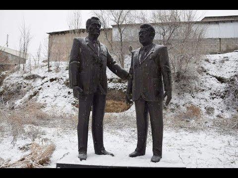 В Казахстане не дают установить памятник  посвященной Динмухамеду Кунаеву и Асанбай Аскарову