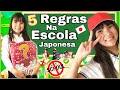 🍿5 REGRAS NA ESCOLA JAPONESA/O QUE PODE OU NÃO NA ESCOLA DO JAPÃO? CURIOSIDADES PIPOCANDO COM AMANDA